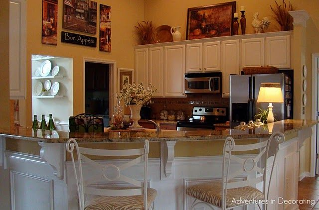 above kitchen cabinet decor above the cabinets decorating idea kitchen 3958