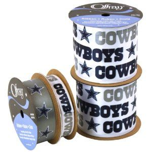 Amazon.com: Offray NW7214AZ Dallas Cowboys Printed Craft Ribbon ...