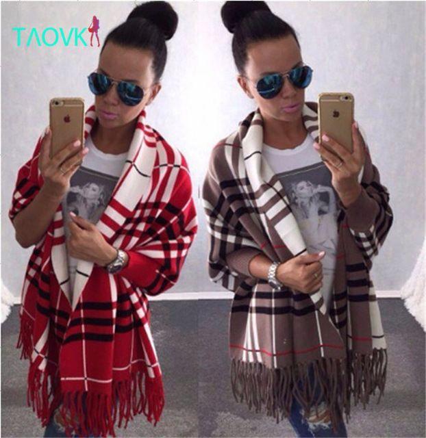 TAOVK Русский стиль дизайна новый 2016 Женщин 4 Цвета Вязание кардиганы Женщины Batwing Рукавом Кисточкой Крючком Пончо свитер пальто