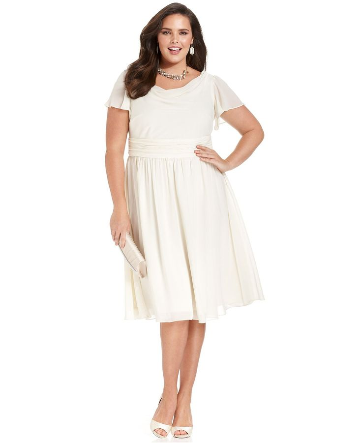 7 best images about tallina is making me wear an ivory for Macys plus size wedding dresses