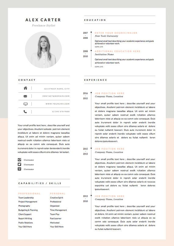 Best 25+ Resume template download ideas on Pinterest Resume - resume templated