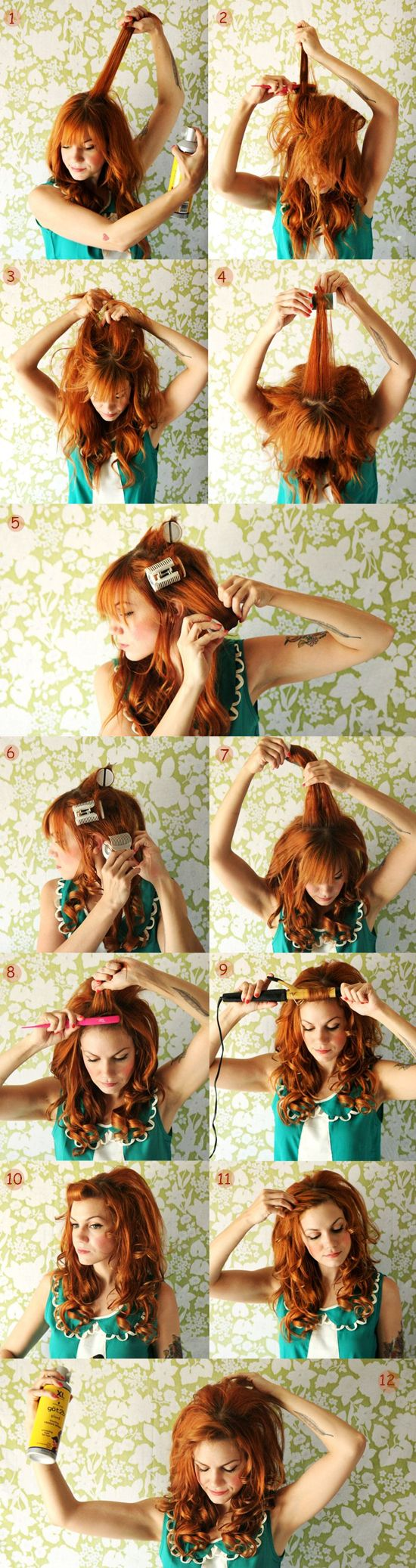 tutorial of wavy hairstyle with best and great red hair extension for thin hair clip on