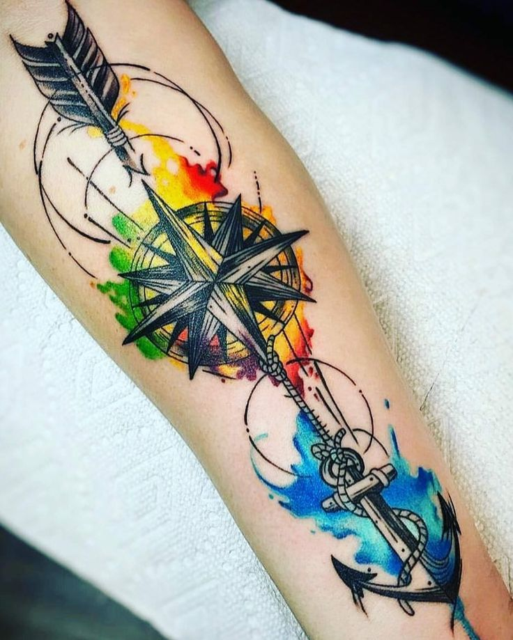 Compass to keep me heading in the right direction, anchor to keep me grounded and feather