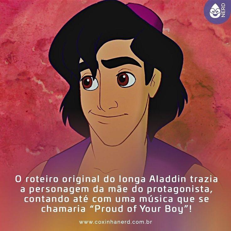 #CoxinhaCuriosa Infelizmente essa sequência foi cortada da edição final.   #TimelineAcessivel #PraCegoVer  Imagem de Alladin da Disney com a legenda: O roteiro original do longa Aladdin da Disney trazia a personagem da mãe do protagonista contando até com uma música que se chamaria Proud of Your Boy.   TAGS: #coxinhanerd #nerd #geek #geekstuff #geekart #nerd #nerdquote #geekquote #curiosidadesnerds #curiosidadesgeeks #coxinhanerd #coxinhafilmes #filmes #viciadosemfilmes #dicadefilme #disney…