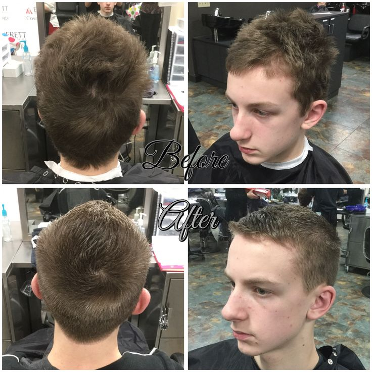 Mens Haircut By Using A 2 Guard On Sides And Fohawk On Top 22416