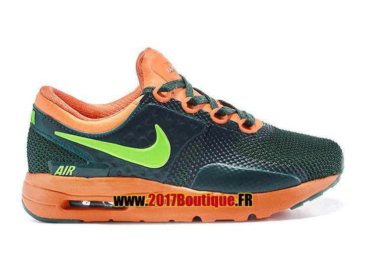 Nike Air Max Zero (PS) Chaussure Nike Sportswear Pas Cher Pour Petit Enfant Orange / Vert