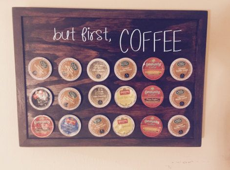 K Cup Holder Coffee Pod Storage Cups Decor But First Organization Keurig Wall Shelf