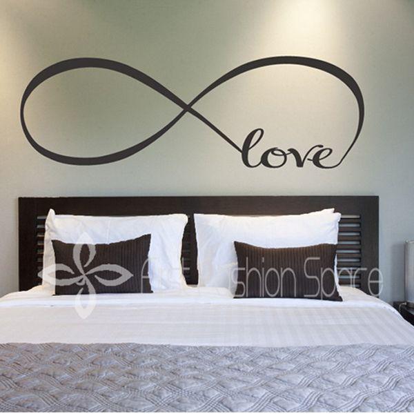 gepersonaliseerde oneindigheidssymbool vinyl behang slaapkamer diy liefde muur stickers citaten schilderij kunst aan de muur decor slaapkamer muur stickers