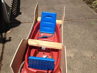 Blog about kid projects.  Pictures and instructions to build a kid's Radio Flyer Excursion pirate ship wagon float, for a children's parade.