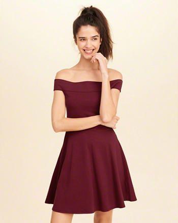 Knit Off-The-Shoulder Dress