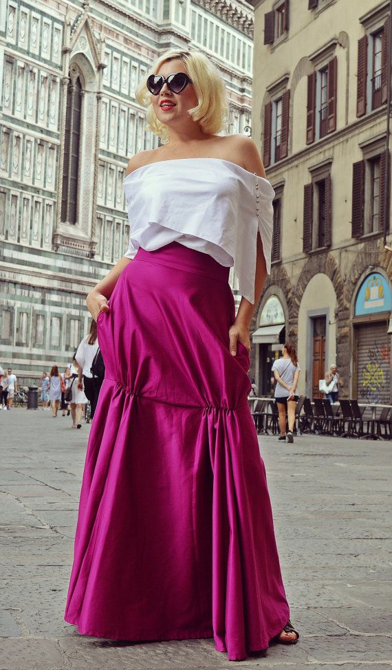 Dark Fuchsia Skirt / Fabulous Dark Fuchsia Skirt / by Teyxo