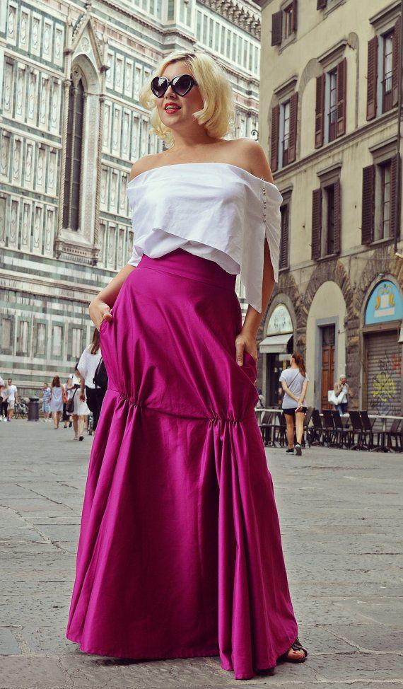 Dark Fuchsia Skirt / Fabulous Dark Fuchsia Skirt / by Teyxo
