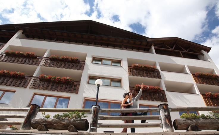 the terrace of hotel gran ciasa dolomites alta badia