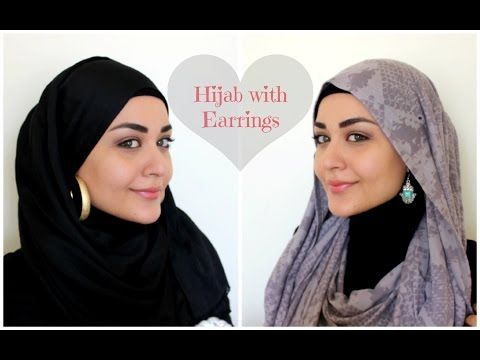 5d25e39ab Hijab with Earrings Tutorial - Hijab avec Boucles d'oreilles - YouTube