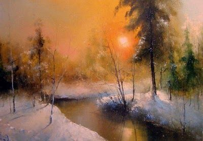 Winter Landscapes by Russian Artist  Igor Medvedev