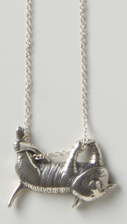 gorey dangling cat necklace necklaces jewelry the