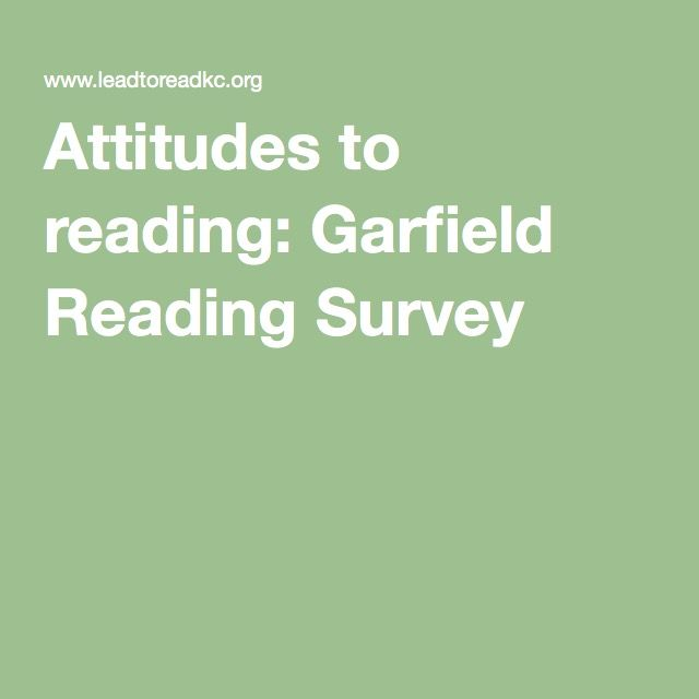 Attitudes to reading: Garfield Reading Survey