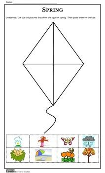 SIGNS OF THE SEASONS - Innovative Teacher #cut #paste