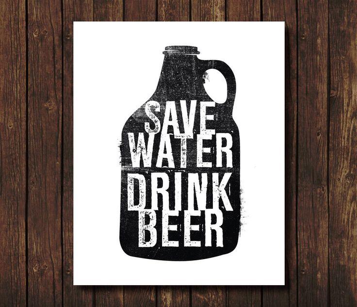 Économiser l'eau boisson bière - Poster - Art de la bière - bière bière sticker - bière Print - affiches la bière par RevampRenewedLiving sur Etsy https://www.etsy.com/ca-fr/listing/263424475/economiser-leau-boisson-biere-poster-art