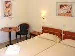 Our Hotel in Rhodos - Double-Small Room: 2 bed or 1 double bed, wc with shower, tv, refrigerator, internet, telephone, balcony, hotplate.