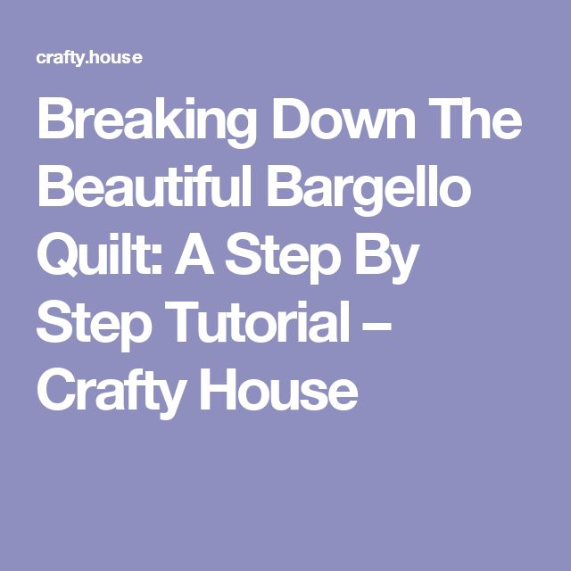 Breaking Down The Beautiful Bargello Quilt: A Step By Step Tutorial – Crafty House                                                                                                                                                                                 More
