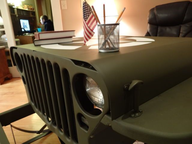 Jeep Man Cave Bar : What could be cooler than a jeep willy mb desk