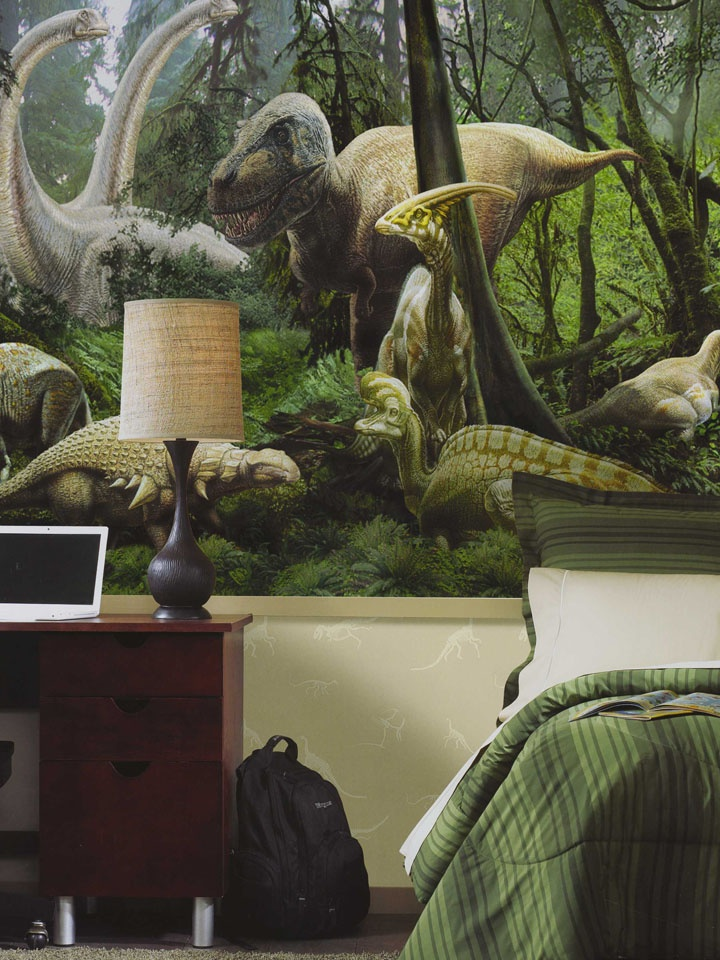 Realistic Dinosaur Mural For A Boys Room Http
