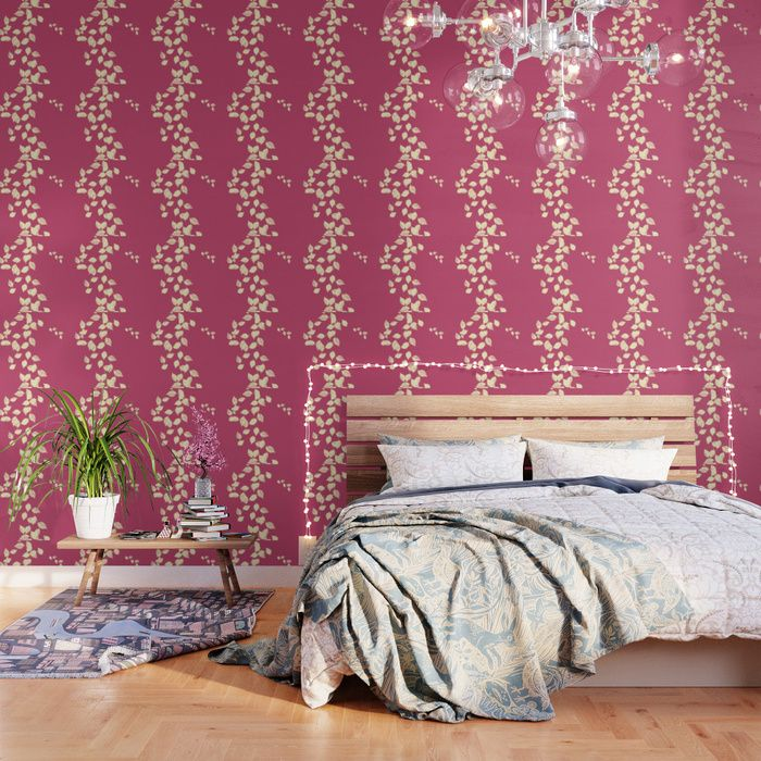 Our Peel And Stick Wallpaper Is Easy To Apply And Take Off Leaving No Adhesive Residue Featuring Sharp Vibrant Imag Flock Wallpaper Gold Wallpaper Wallpaper