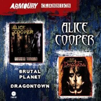 "Set di 2 album di #AliceCooper, ""Brutal planet"" e ""Dragontown""."