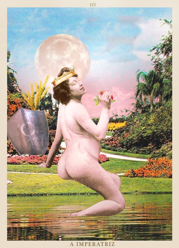 A IMPERATRIZ - TAROT. #tarot #collage #theempress #limperatrice