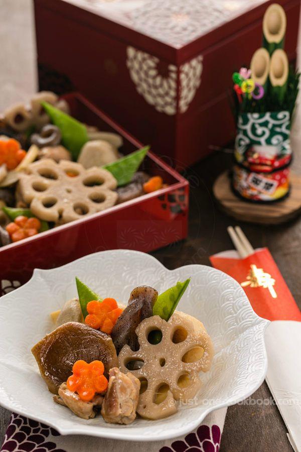 Chikuzenni (Simmered Chicken and Vegetables, 筑前煮) | Japanese New Year Foods | JustOneCookbook.com