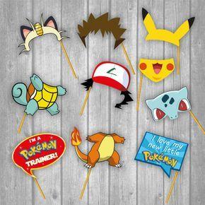 cabina de la foto de pokemon set piezas por
