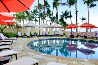 The Royal Hawaiian, Waikiki. Re-imagined and revitalized, this iconic pink-hued palace has once again taken its place as Waikiki's grande dame.