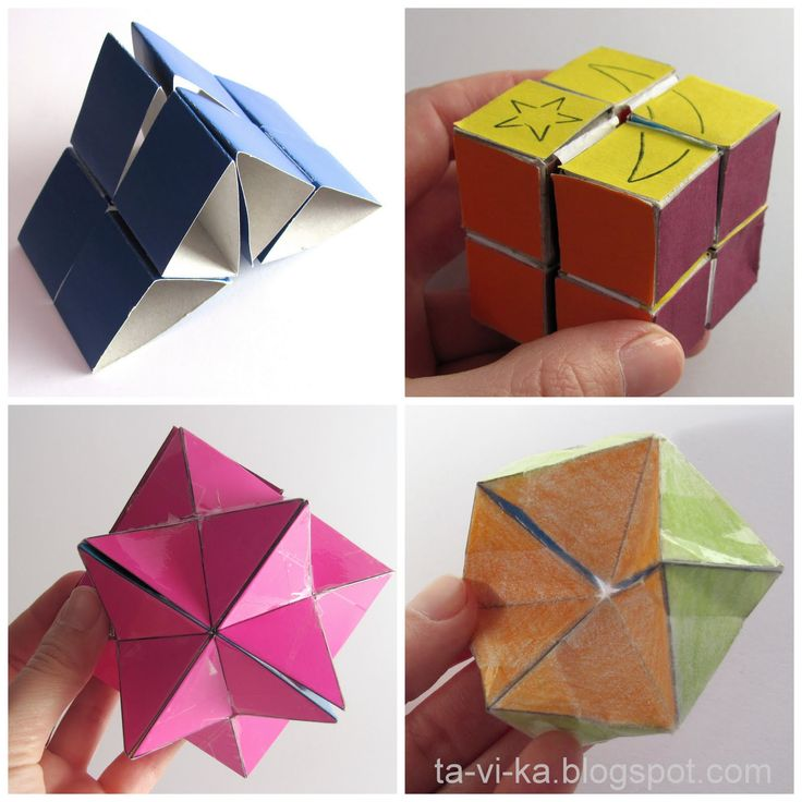 Кубики-трансформеры из бумаги :: Это интересно!