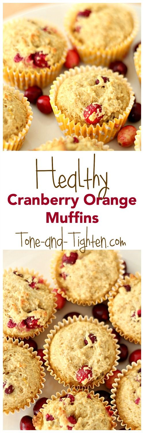 Healthy Cranberry Orange Muffins from Tone-and-Tighten.com