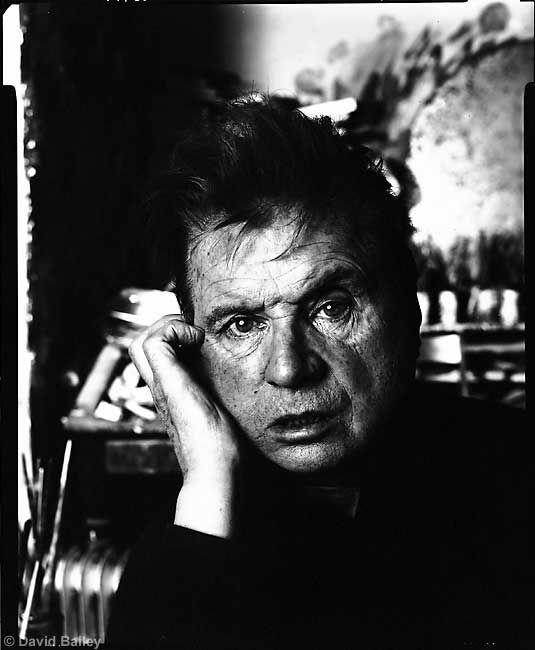 David Bailey, Francis Bacon, London Studio, 1983. @designerwallace