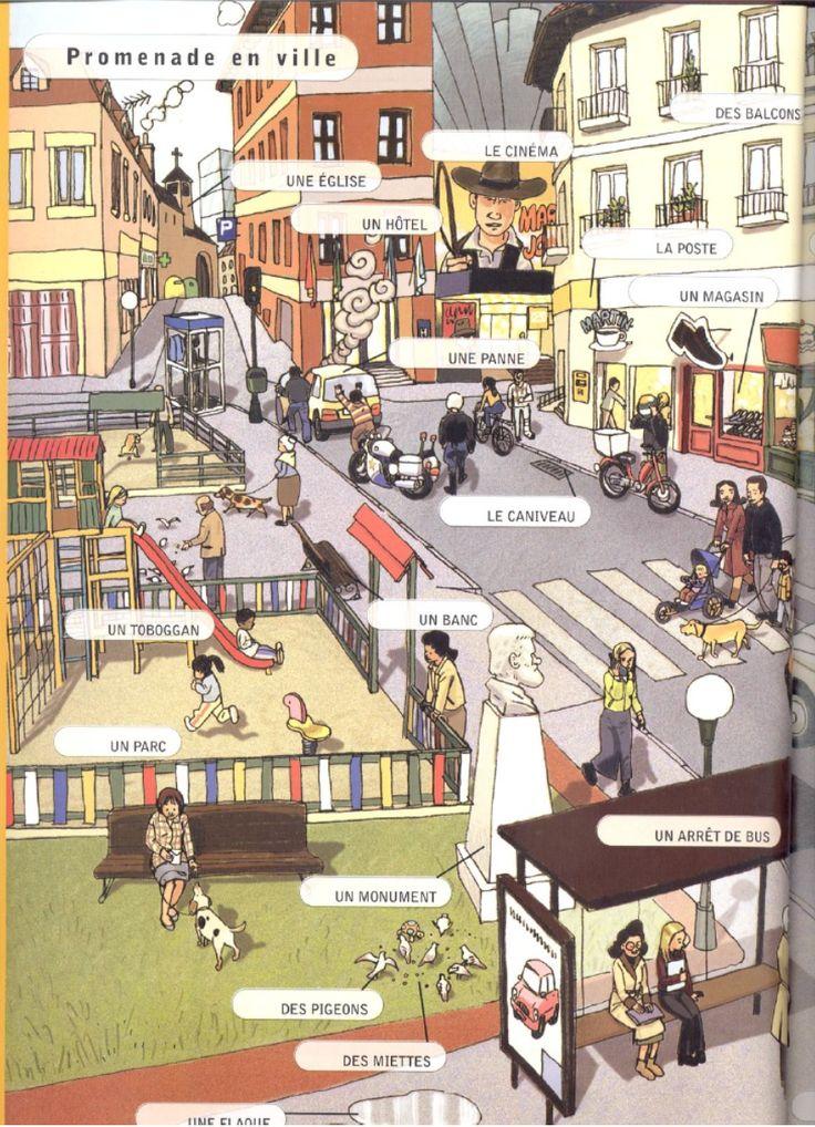 Promenade en ville  http://www.learnfrenchathome.com/ville.pdf    http://www.learnfrenchathome.com/images.htm