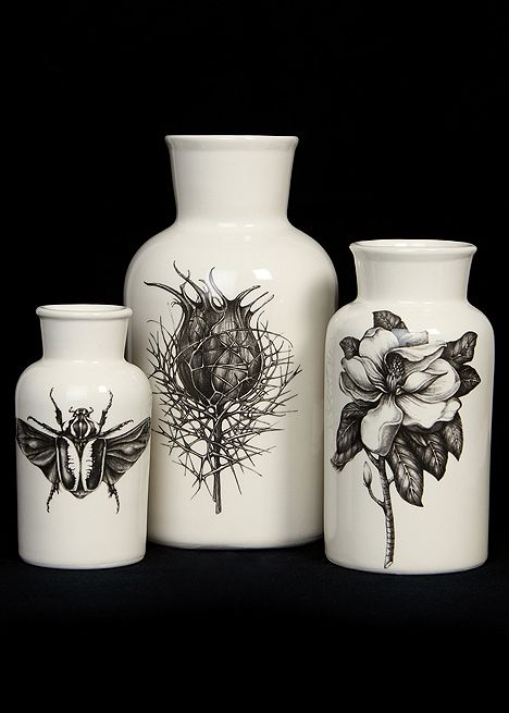 Blackbird - Laura Zindel - Three Piece Botanical Jar Set