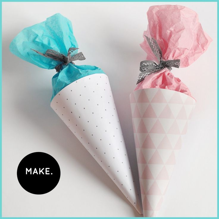 """free ebook for small gift packages  mini schultüte / zuckertüte zum selbst-ausdrucken und basteln bei """"sonst noch was?"""""""