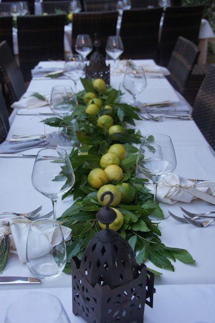 lemons tablescape centerpiece  www.tablescapesbydesign.com https://www.facebook.com/pages/Tablescapes-By-Design/129811416695