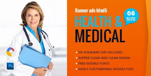Health & Medical Banners HTML5 - GWD