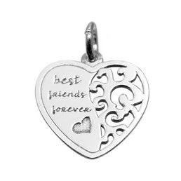 Pandantivul in forma de inima este lucrat din argint rodiat Sterling 925.  Dimensiuni inima din argint: 13x14mm. Inima din argint inscriptionata are veriga detasabila si este o idee deosebita de cadou pentru cea mai buna prietena.  Inima din argint inscriptionata, va fi cu siguranta o bijuterie deosebita pentru EA.