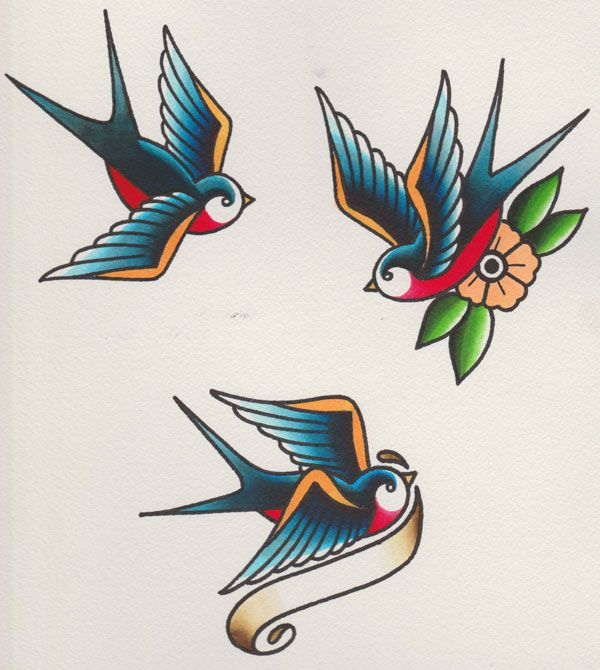 Best 25 traditional swallow tattoo ideas on pinterest for Traditional sparrow tattoo