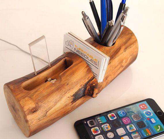 iPhone Dock Stifthalter Kartenhalter alles in einem von valliswood