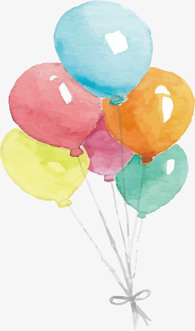 Watercolor Balloon Vector Png Balloon Balloon Bundle Png And