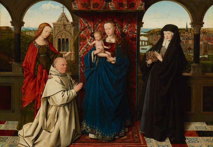 Jan van Eyck and Workshop (1390/1400-1441), <i>Virgin and Child, with Saints and Donor