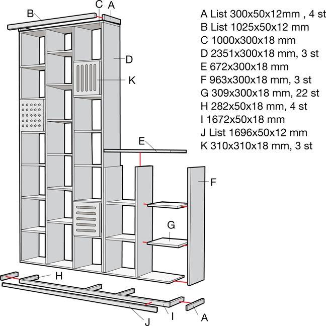 Platsbygg en bokhylla