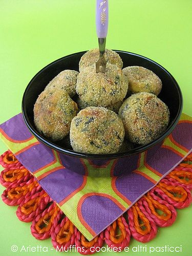 Polpette di patate, spinaci ed emmenthal