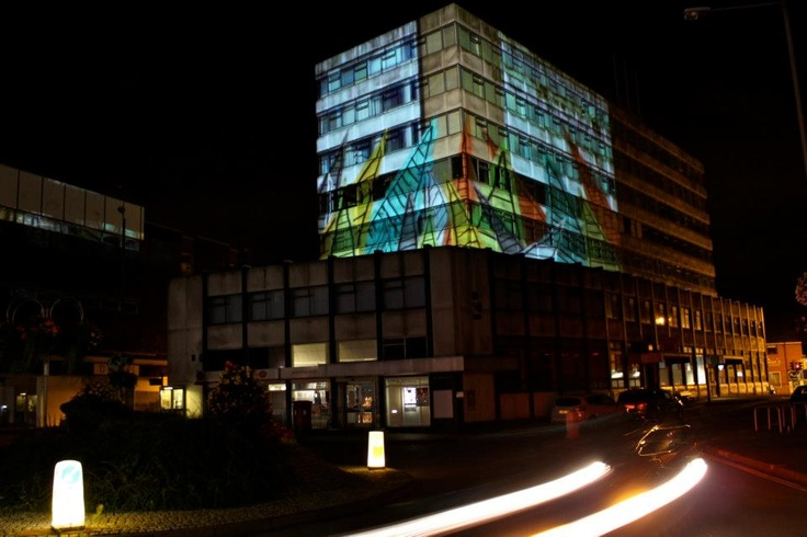 Urban Projections - Bloom, Live projection mapping performance