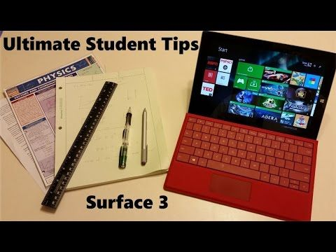 Awesome tips, feature, and Navigation Perks. Ultimate Student Guide To Using Microsoft Surface 3
